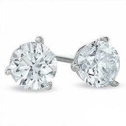 0.50 CT. T.W. Certified Canadian Diamond Solitaire Stud Earrings in 14K White Gold (I/I2)