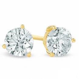 0.50 CT. T.W. Certified Canadian Diamond Solitaire Stud Earrings in 14K Gold (I/I2)