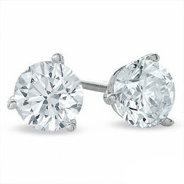 0.70 CT. T.W. Certified Canadian Diamond Solitaire Stud Earrings in 14K White Gold (I/I2)
