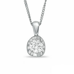 0.50 CT. T.W. Certified Canadian Diamond Pendant in 14K White Gold - 17""