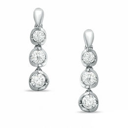 1.00 CT. T.W. Certified Canadian Diamond Dangle Earrings in 14K White Gold