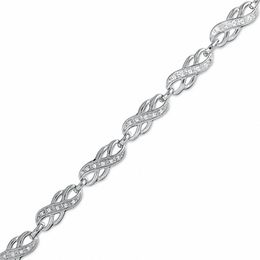 0.25 CT. T.W. Diamond Infinity Bracelet in Sterling Silver