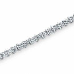0.50 CT. T.W. Diamond Bar Bracelet in Sterling Silver