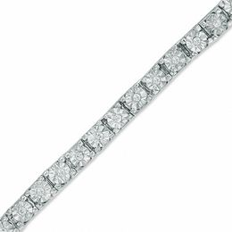 0.25 CT. T.W. Diamond Tennis Bracelet in Sterling Silver - 7.25""