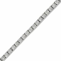 0.50 CT. T.W. Diamond Tennis Bracelet in Sterling Silver - 7.25""
