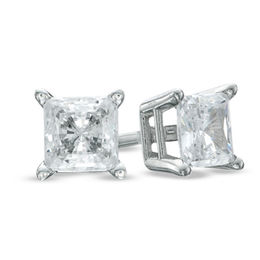 Celebration Canadian Grand™ 0.30 CT. T.W. Princess-Cut Diamond Solitaire Earrings in 14K White Gold (H-I/I1)