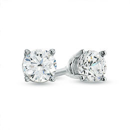 Celebration Canadian Grand™ 0.50 CT. T.W. Diamond Solitaire Stud Earrings in 14K White Gold (H-I/I1)