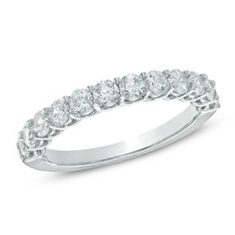1.02 CT. T.W. Certified Canadian Diamond Anniversary Band in 14K White Gold (I/I2)
