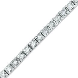 2.00 CT. T.W. Diamond Tennis Bracelet in Sterling Silver - 7.25""
