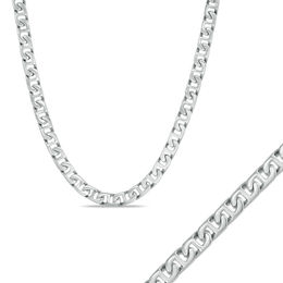 Men's Shaquille O'Neal 7.0mm Mariner Chain Necklace and Bracelet Set in Stainless Steel - 24""
