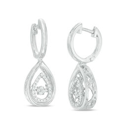Unstoppable Love™ 1/5 CT. T.W. Composite Diamond Double Pear-Shaped Drop Earrings in Sterling Silver