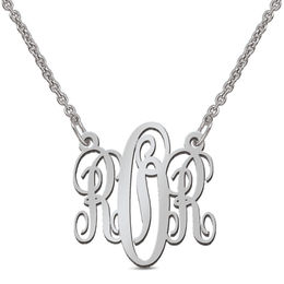 Small Monogram Necklace (3 Initials)
