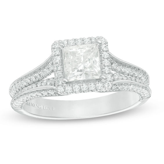 Vera Wang Love Collection 1 45 Ct T W Princess Cut